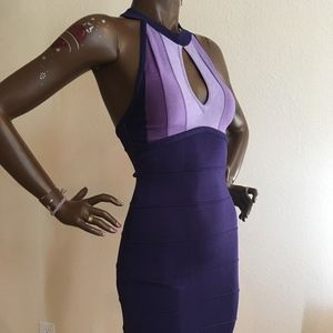 BEBE Purple Retro Style Dress XS